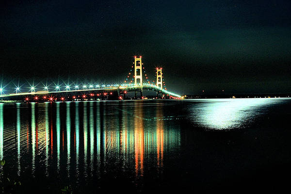 Wall Art - Photograph - Mighty Mac At Night by Matthew Winn