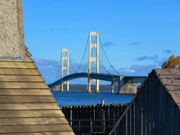Photograph - Mighty Mac From Michilimackinac by Keith Stokes