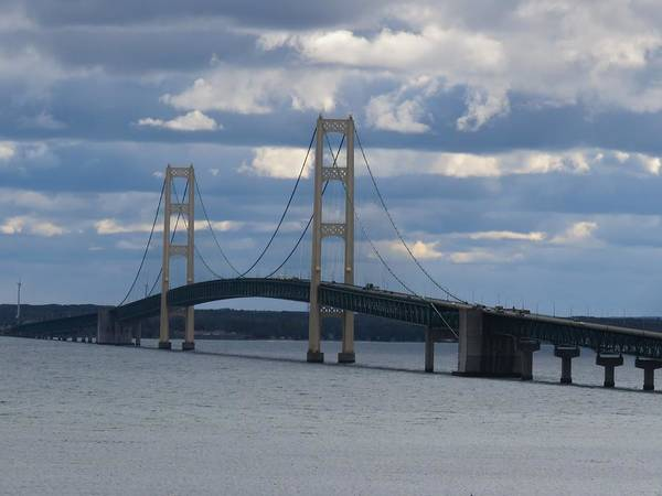Photograph - Mighty Mac The Mackinac Bridge by Keith Stokes