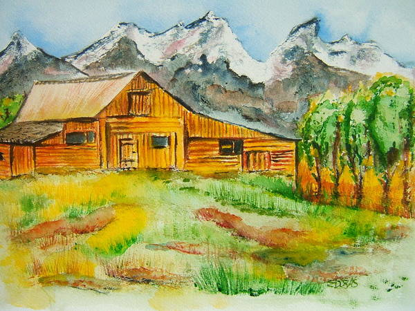 Wall Art - Painting - Mighty Rancher by Elaine Duras