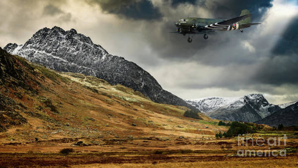 Vintage Airplane Photograph - Mighty Tryfan Snowdonia by Adrian Evans