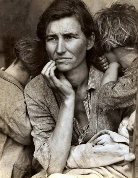 Photograph - Migrant Mother by Dorothea Lange Presented by Joy of Life Art