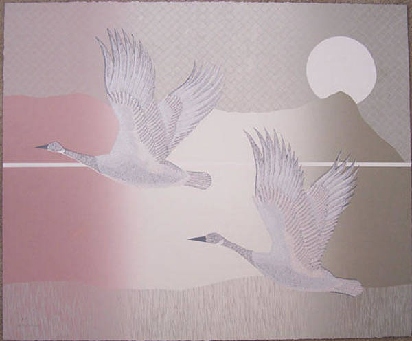 Wall Art - Painting - Migration by Del Valle