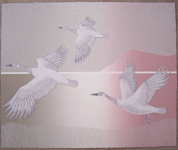 Wall Art - Painting - Migration II by Del Valle