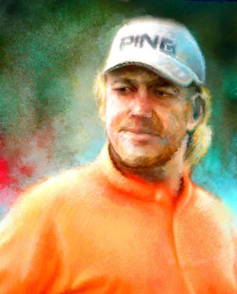 Painting - Miguel Angel Jimenez by Miki De Goodaboom