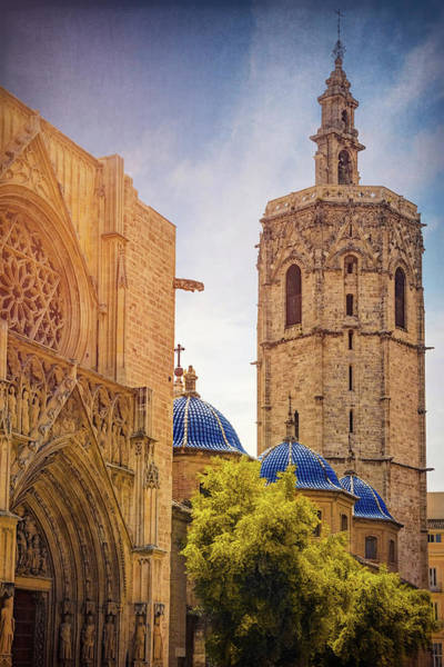 Wall Art - Photograph - Miguelete Bell Tower And Valencia Cathedral Spain  by Carol Japp