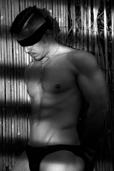 Male Nude Digital Art - Mike Black  by Mark Ashkenazi