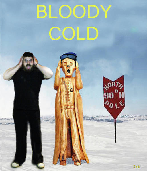 Mixed Media - Mike Bloody Cold by Eric Kempson