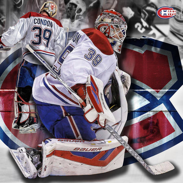 Montreal Canadiens Digital Art - Mike Condon Print by Nicholas Legault