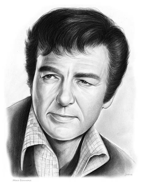 Actor Drawing - Mike Connors by Greg Joens
