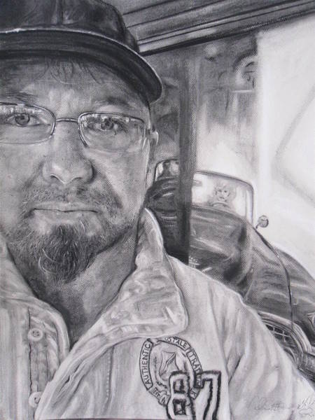 Wa Drawing - Mike Dennis Artist by Adrienne Martino