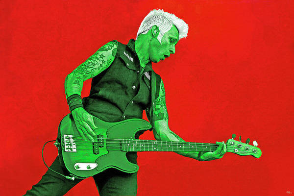 Wall Art - Digital Art - Mike Dirnt Green Day by Mal Bray