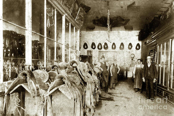 Photograph - Mike Hughes Harness Shop, Salinas, Monterey County by California Views Archives Mr Pat Hathaway Archives