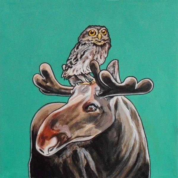 Painting - Mike The Moose by Sharon Cromwell