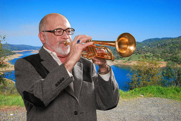 Photograph - Mike Vax Professional Trumpet Player Photographic Print 3761.02 by M K Miller