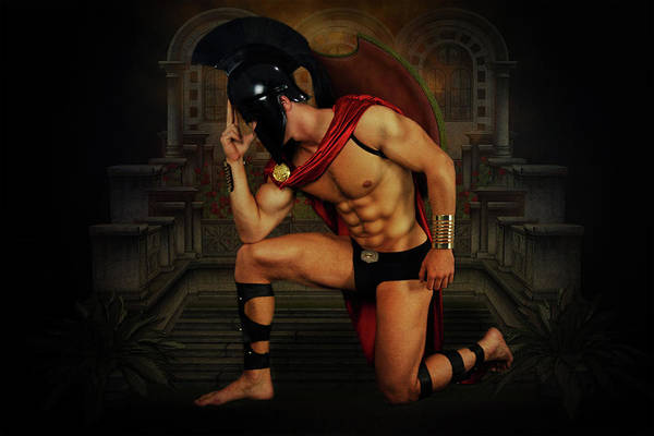 Bodybuilder Digital Art - Mike15 by Mark Ashkenazi