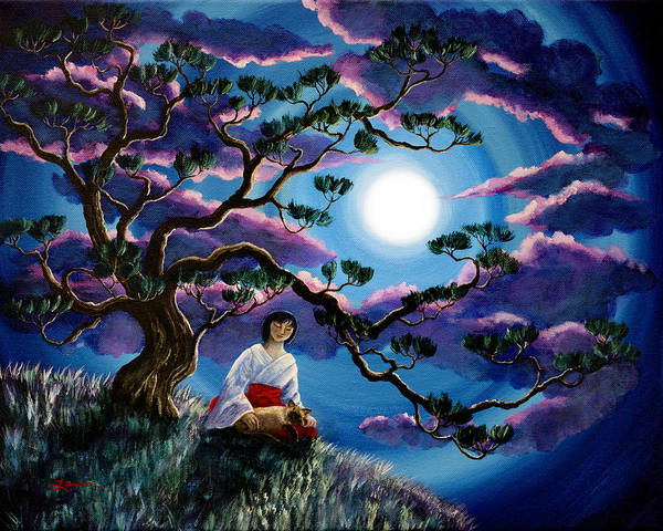 Wall Art - Painting - Miko And Cat Meditation by Laura Iverson