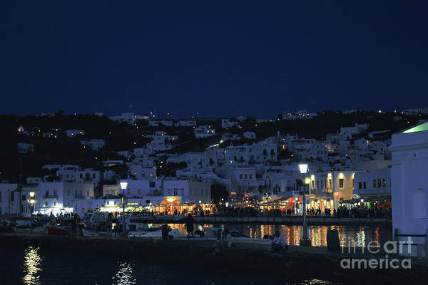 Photograph - Mykonos At Night by Donna L Munro