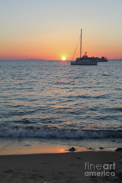 Photograph - Mikonos Beach Sunset by Donna L Munro