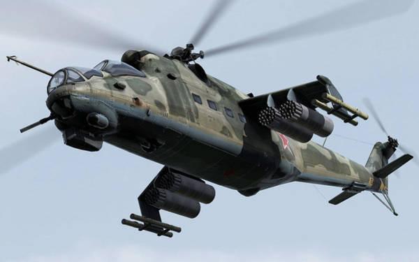 Digital Art - Mil Mi-24 by Maye Loeser