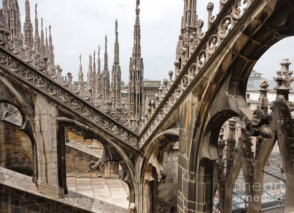 Photograph - Milan Cathedral Buttress by Gregory Dyer
