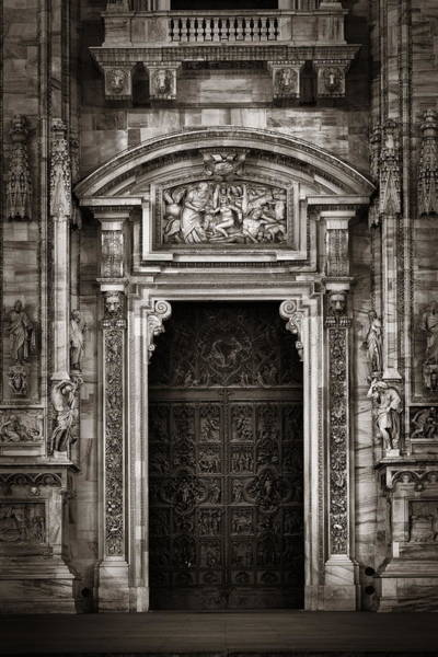 Photograph - Milan Cathedral Door by Songquan Deng