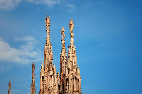 Photograph - Milan Cathedral Sculpture by Songquan Deng
