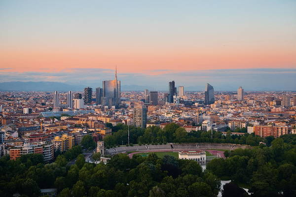 Photograph - Milan City Skyline by Songquan Deng
