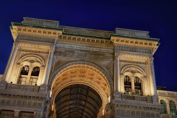 Window Shopping Photograph - Milan Galleria Night by Joan Carroll