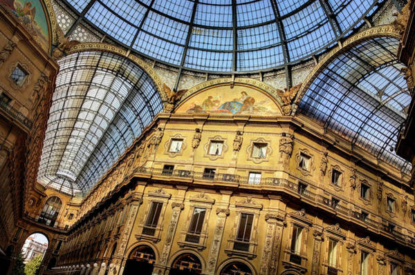 Northern Italy Photograph - Milan Galleria Vittorio Emanuele II  by Carol Japp