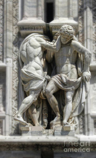 Photograph - Milan Italy Cathedral Statues by Gregory Dyer
