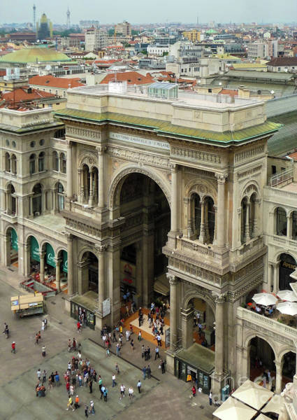 Photograph - Milan Italy Galleria by Gregory Dyer