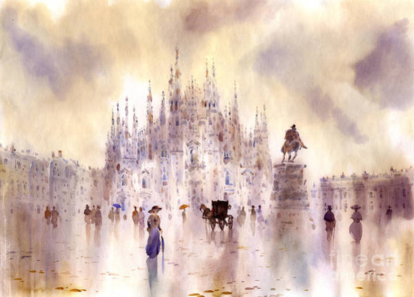 Wall Art - Painting - Milan by Svetlana and Sabir Gadghievs