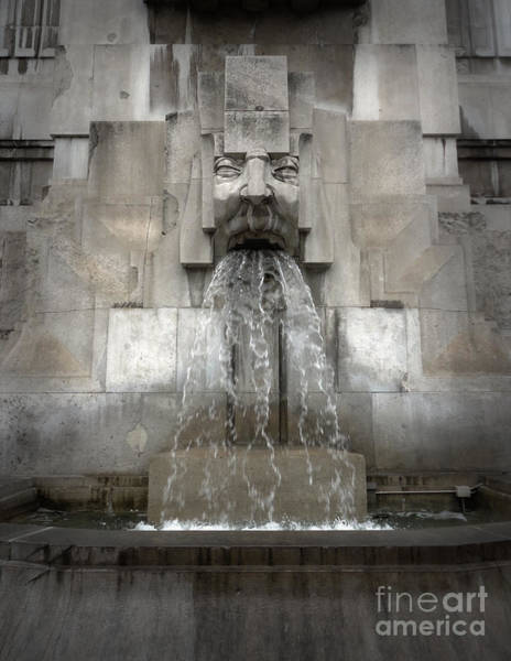 Photograph - Milan Train Station Fountain by Gregory Dyer