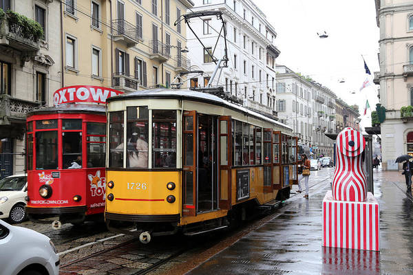 Photograph - Milan Trolley 1 by Andrew Fare