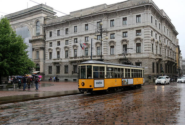 Photograph - Milan Trolley 2 by Andrew Fare