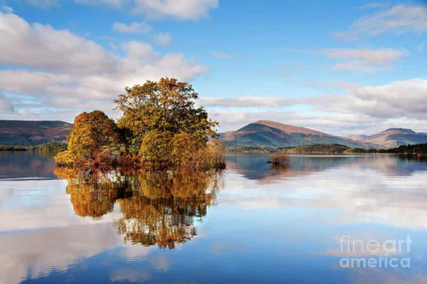 Wall Art - Photograph - Autumn Reflections Milarrochy Bay by Janet Burdon