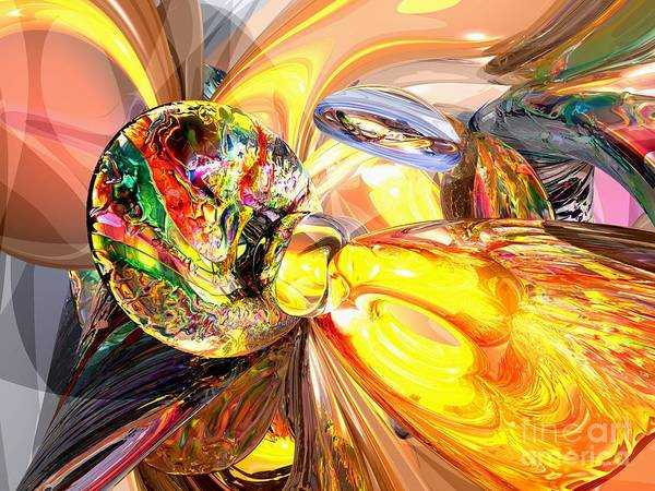 Wall Art - Digital Art - Mildly Stimulated Abstract by Alexander Butler