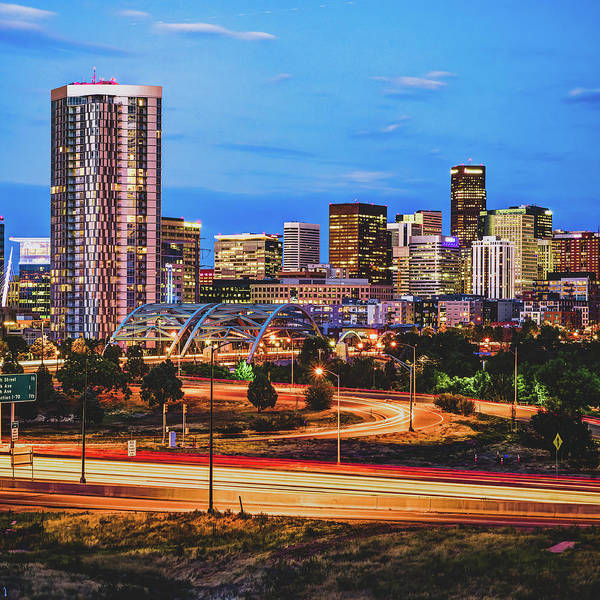 Photograph - Mile High Morning - Denver Skyline View - Square Format  by Gregory Ballos
