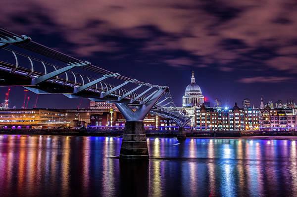 Bankside Photograph - Milenium Bridge by David Leigh-Jackson