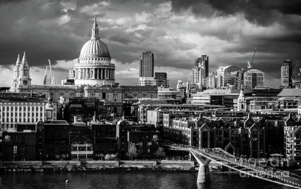 Photograph - Milennium Bridge And St. Pauls, London by Alexandre Rotenberg