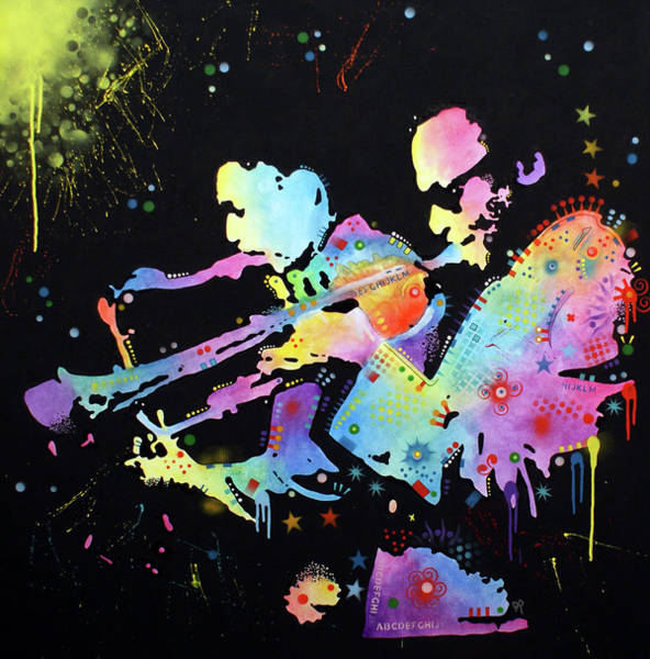 Painting - Miles And Coltrane by Dean Russo Art