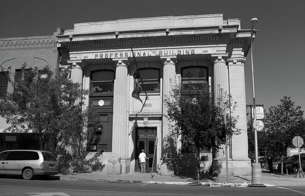 Wall Art - Photograph - Miles City, Montana - Professional Building Bw by Frank Romeo
