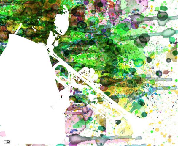 Playing Painting - Miles Davis 2 by Naxart Studio