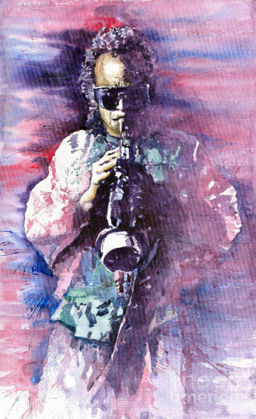 Wall Art - Painting - Miles Davis Meditation 2 by Yuriy Shevchuk