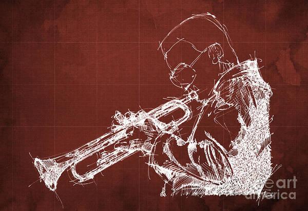 Wall Art - Painting - Miles Davis by Drawspots Illustrations