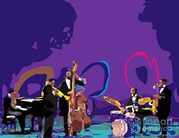 Digital Art - The Miles Davis Quintet by Walter Neal