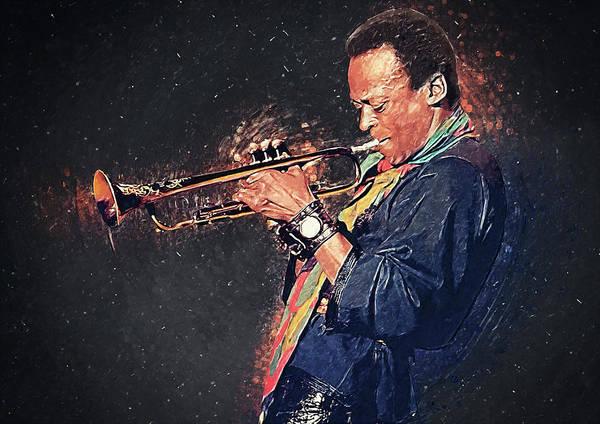 Digital Art - Miles Davis by Zapista Zapista