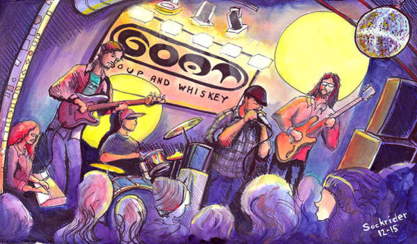 Painting - Miles Guzman Band by David Sockrider