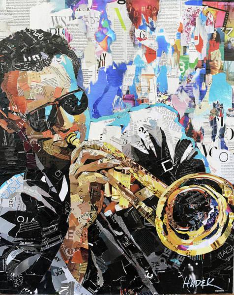 Trumpet Mixed Media - Miles by James Hudek